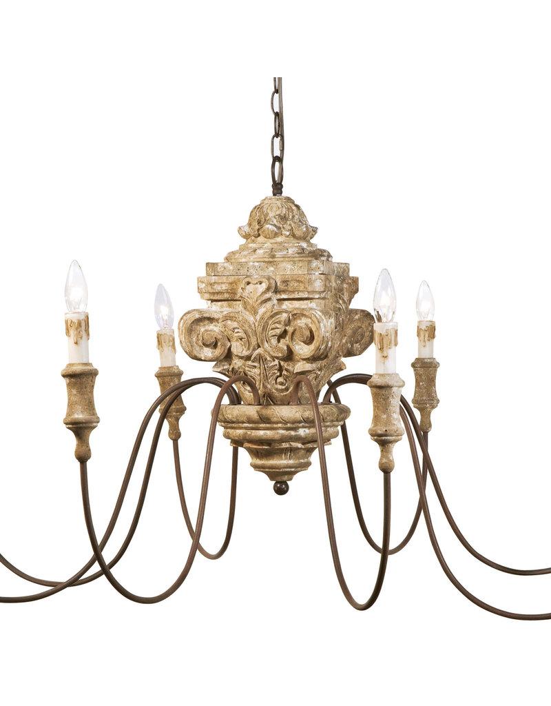 Regina Andrew Design Wood Carved Chandelier
