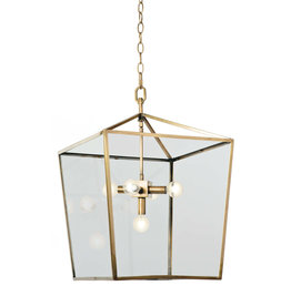 Regina Andrew Design Camden Lantern (Natural Brass)