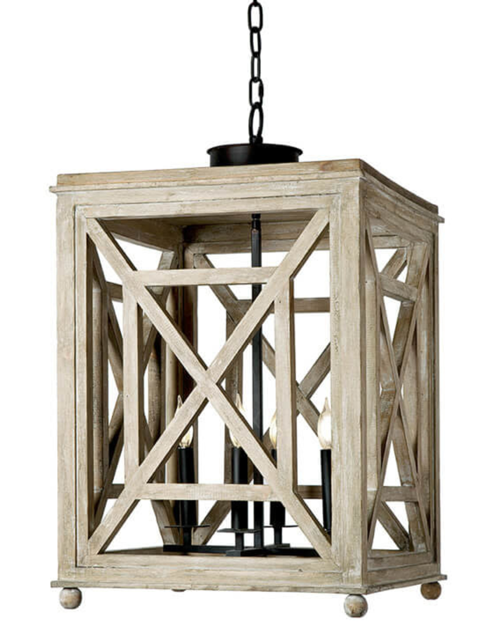 Regina Andrew Design Wood Lattice Lantern