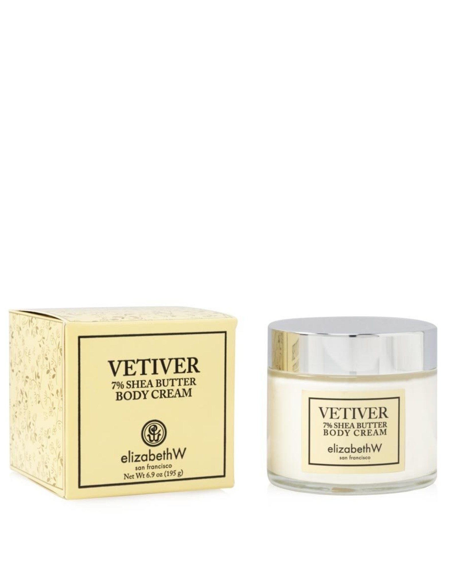 Elizabeth W Vetiver Body Creme Jar 6.75 fl. oz.