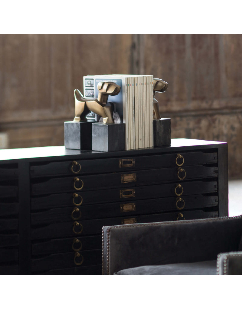 Regina Andrew Design Doggie Bookends Pair (Brass)