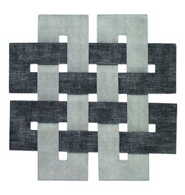 Bodrum Celtic Mats - Smoke Gray - Set of 4