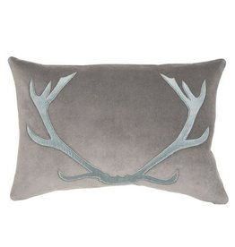 Blitzen Pillow - Grey/Blue 16x24