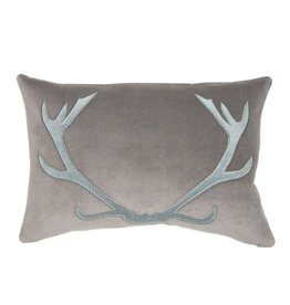 Piper Collection Blitzen Pillow - Grey/Blue 16x24