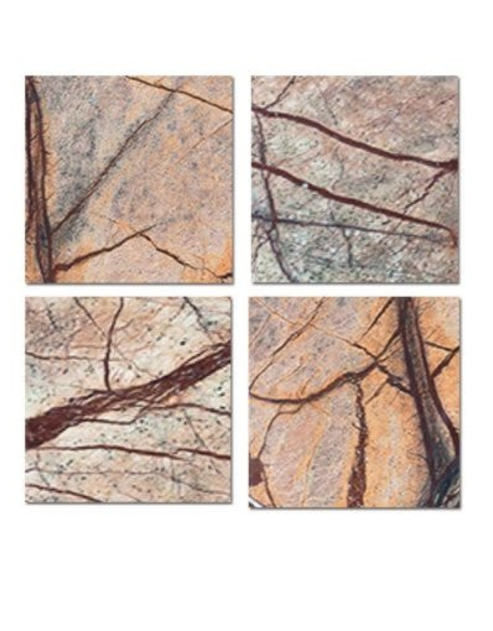 Be Home Forest Marble Square Coasters - Set of 4