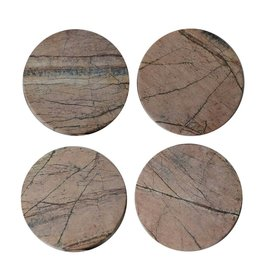 Be Home Forest Marble Round Coasters, Set of 4