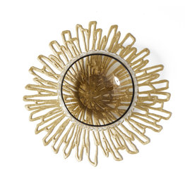 Chilewich Bloom Pressed Coaster set/6, GILDED