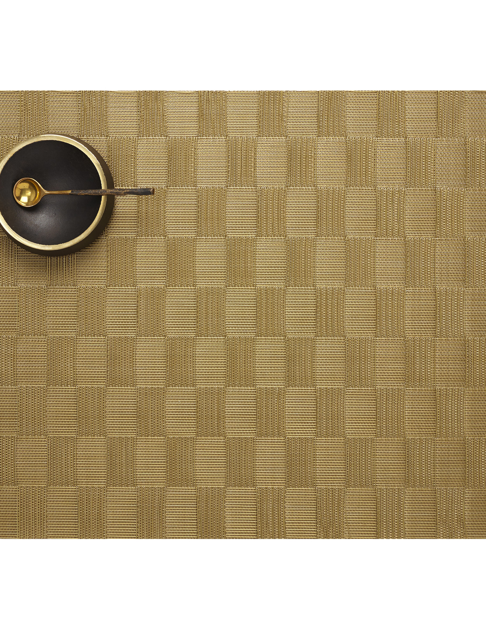 Chilewich Domino Tablemat 14x19, GOLD