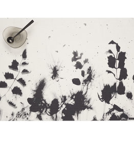 Chilewich Flora Tablemat 13.5x18.5, BLACK