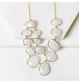 Collections by Joya Moonstone Statement Necklace