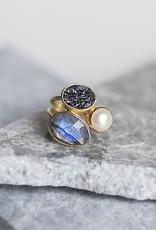 Salema Deco Diamond Ring - Size 8