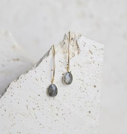 Labradorite Stiletto Earrings