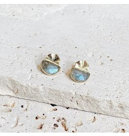 Collections by Joya Laine Stud Earrings - Labradorite