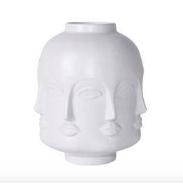 Matte White Face Jar - Short