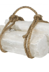 Selenite Fireplace Log  (Single)