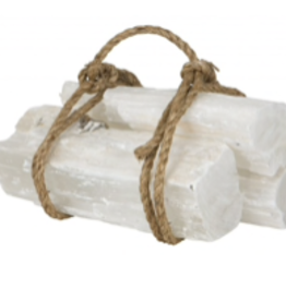 Selenite Fireplace Log  (Single)