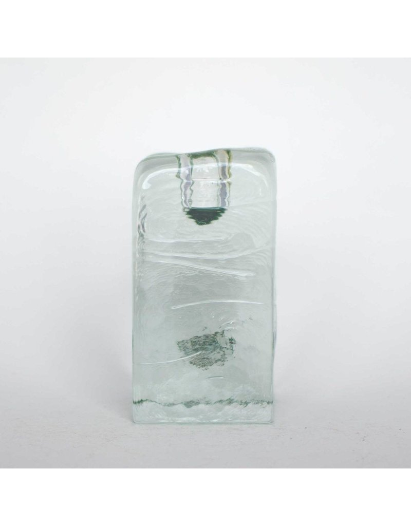 Blenko Glass Company Block Shaped Candleholder - MED Crystal