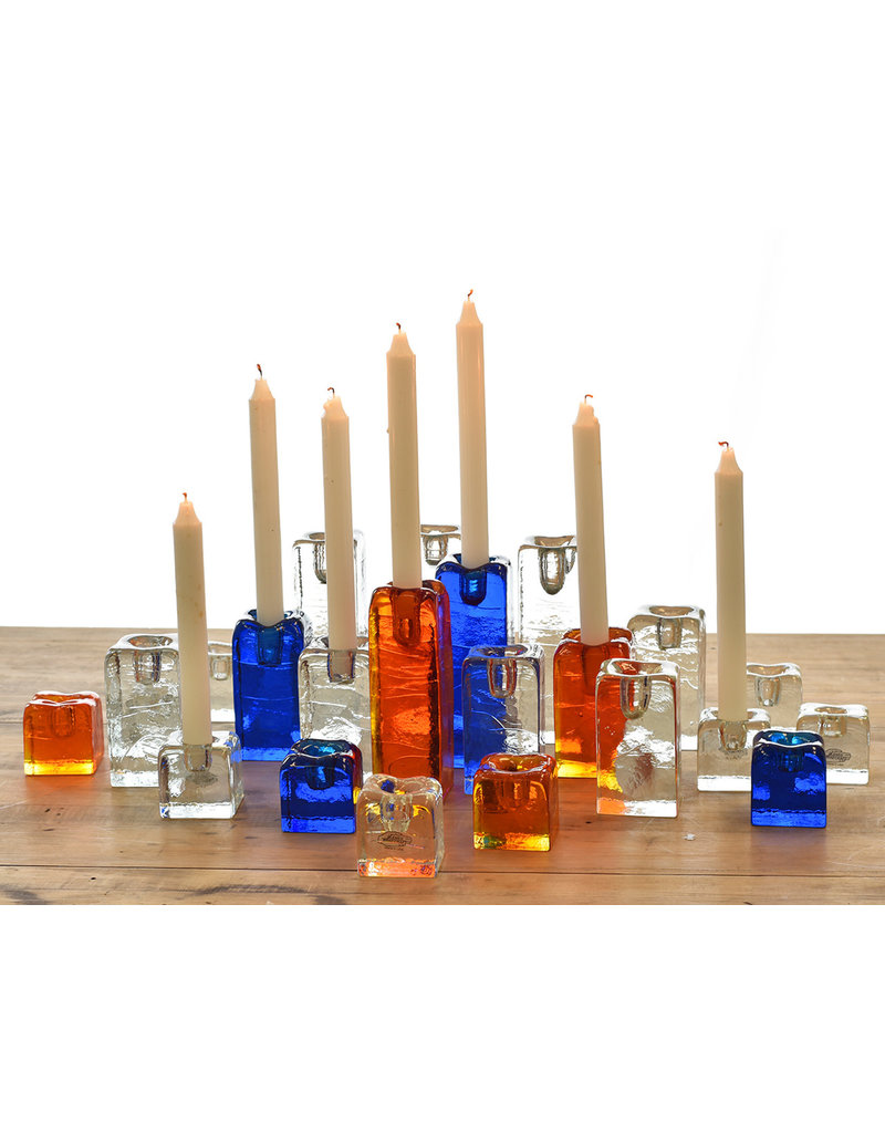 Blenko Glass Company Block Shaped Candleholder - SM Crystal