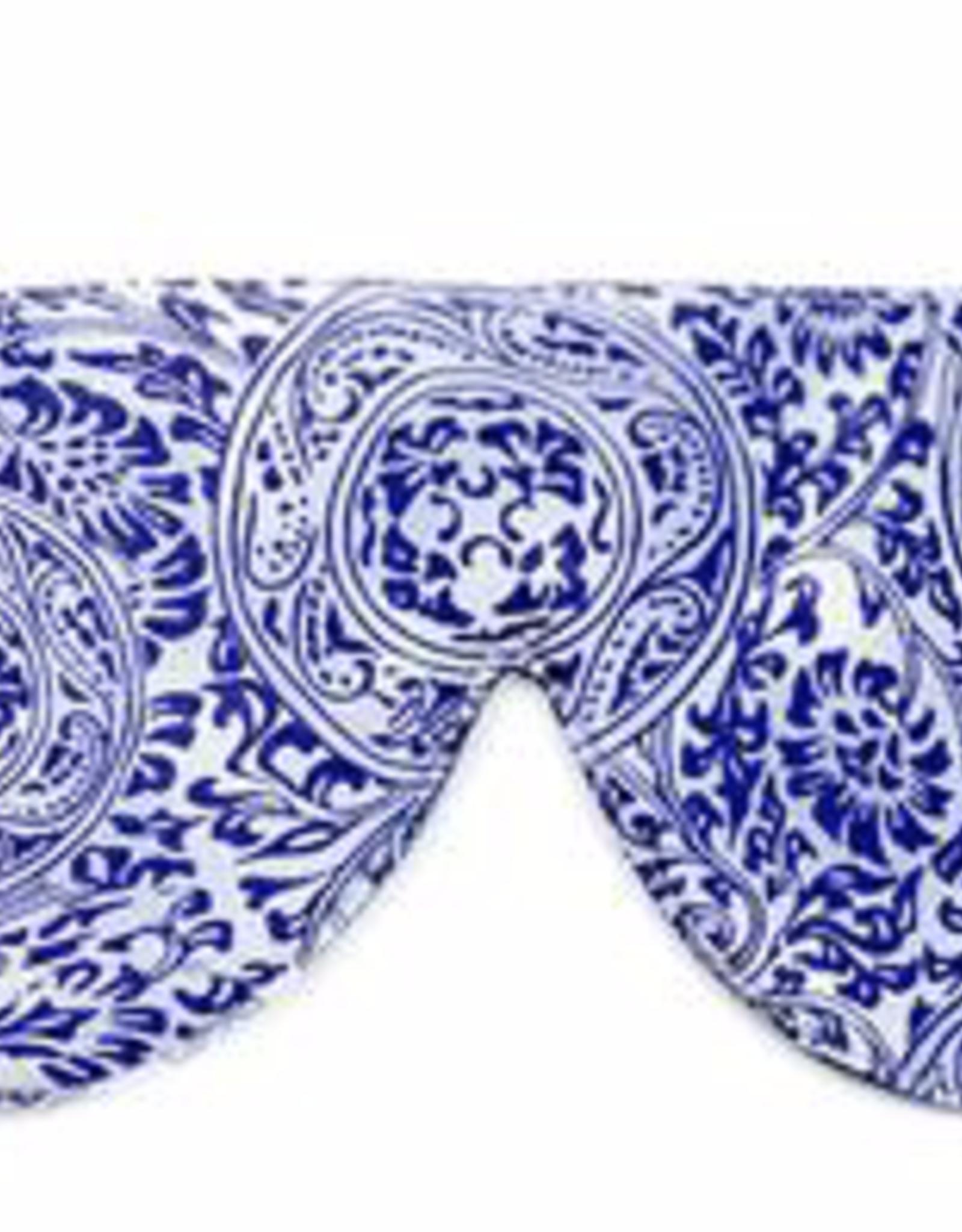 Elizabeth W Sleep Mask, Venetian Blue Silk