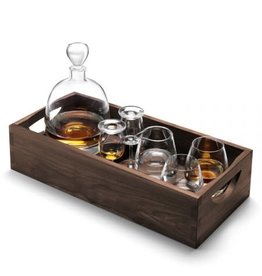 LSA International Islay Whiskey Connoisseur Set & Walnut Tray