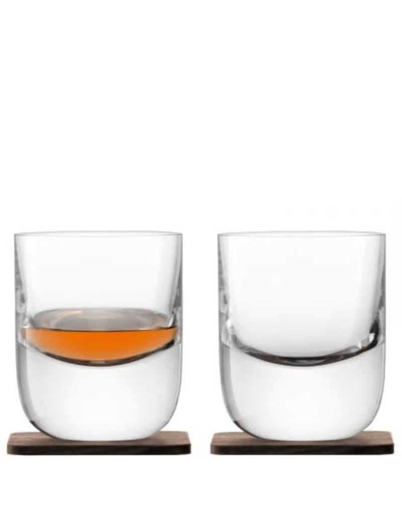 LSA International Renfrew Whiskey Tumbler w/Coaster Set