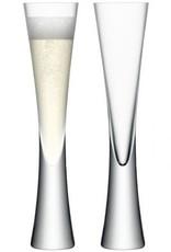 Moya Champagne Flute, Set of 2 Clear