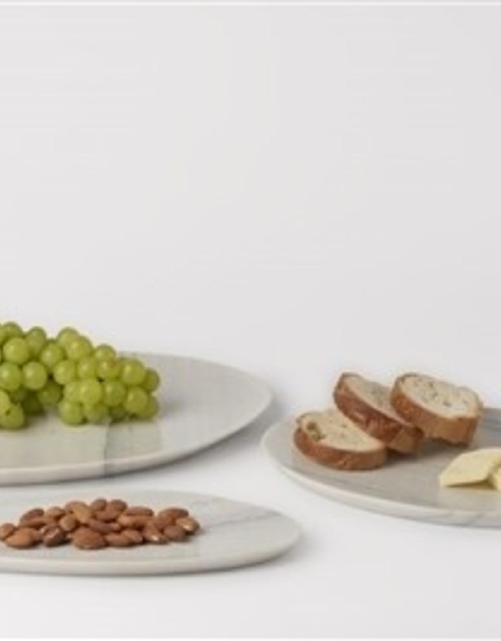 BIDK Home SM Stone Asymmetrical Platter - White Grey