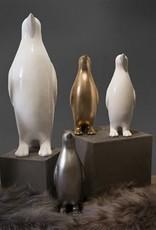 BIDK Home Small Lacquer Penguin- Silver Wash 19in