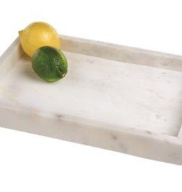 BIDK Home Marble Tank Tray 14x10 - Opal White