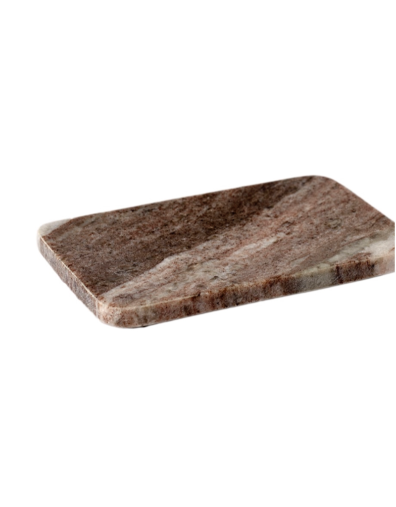 BIDK Home Brown Galaxy Marble Tray/Soap Dish