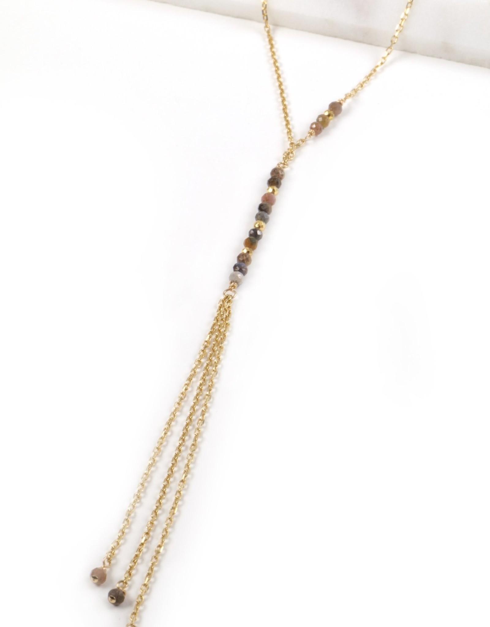 Mickey Lynn Ruby Sapphire Y Necklace
