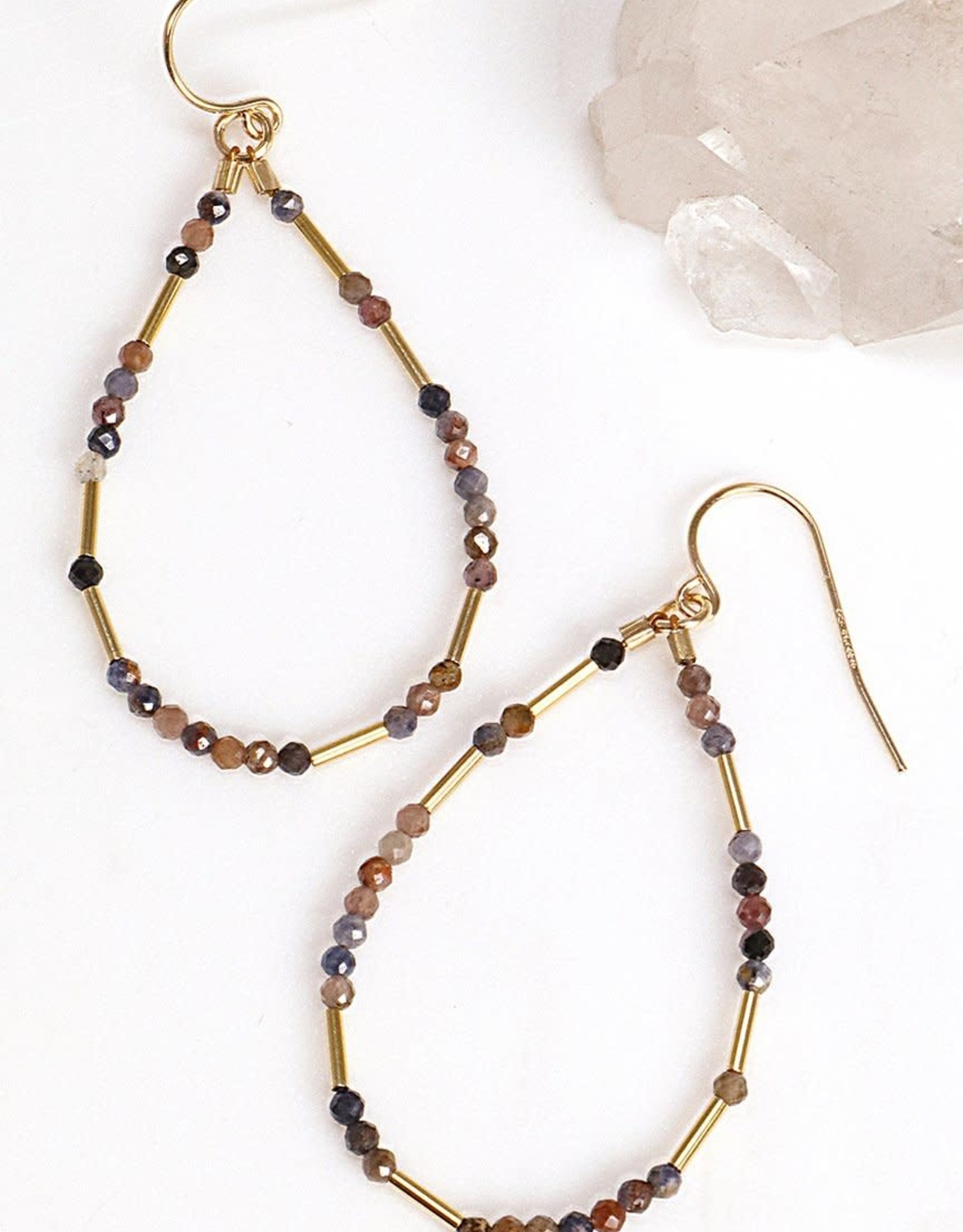Mickey Lynn Ruby Sapphire Liquid Gold Hoops