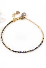 Mickey Lynn Sapphire Zircon Pyrite Bracelet
