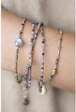 Mickey Lynn Ruby Sapphire Wrap Bracelet