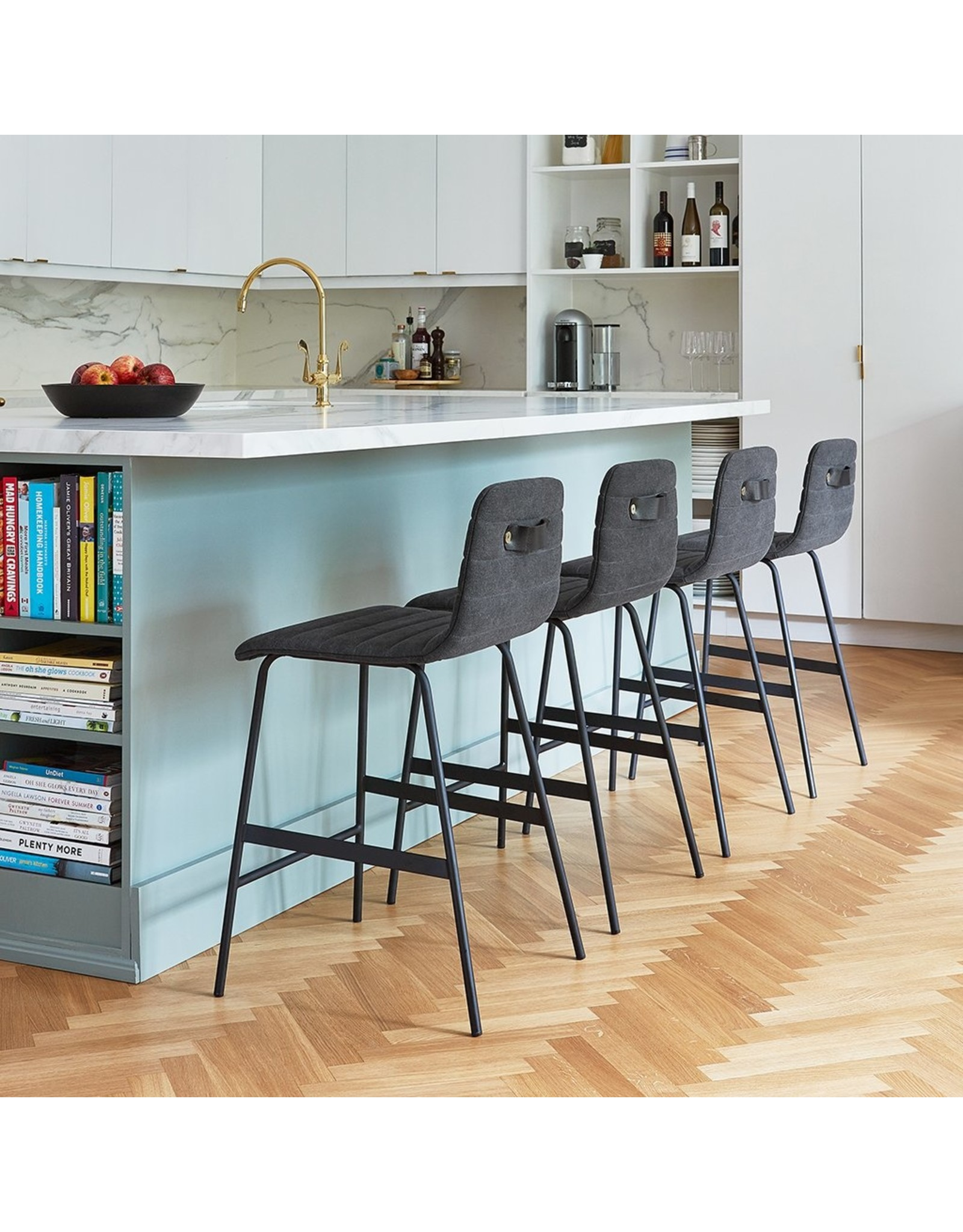Lecture Upholstered Counter Stool