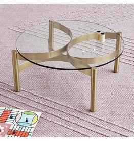 Gus* Modern Compass Glass Coffee Table