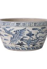 Blue and White Ming Dragon Bowl
