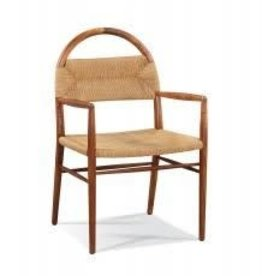 Pernelle Woven Rush Arm Chair - Walnut