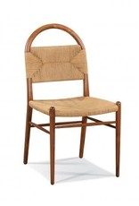 Pernelle Woven Rush Side Chair - Walnut