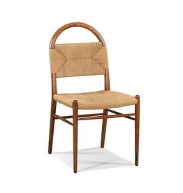 CTH Sherrill Occasional Pernelle Woven Rush Side Chair - Walnut