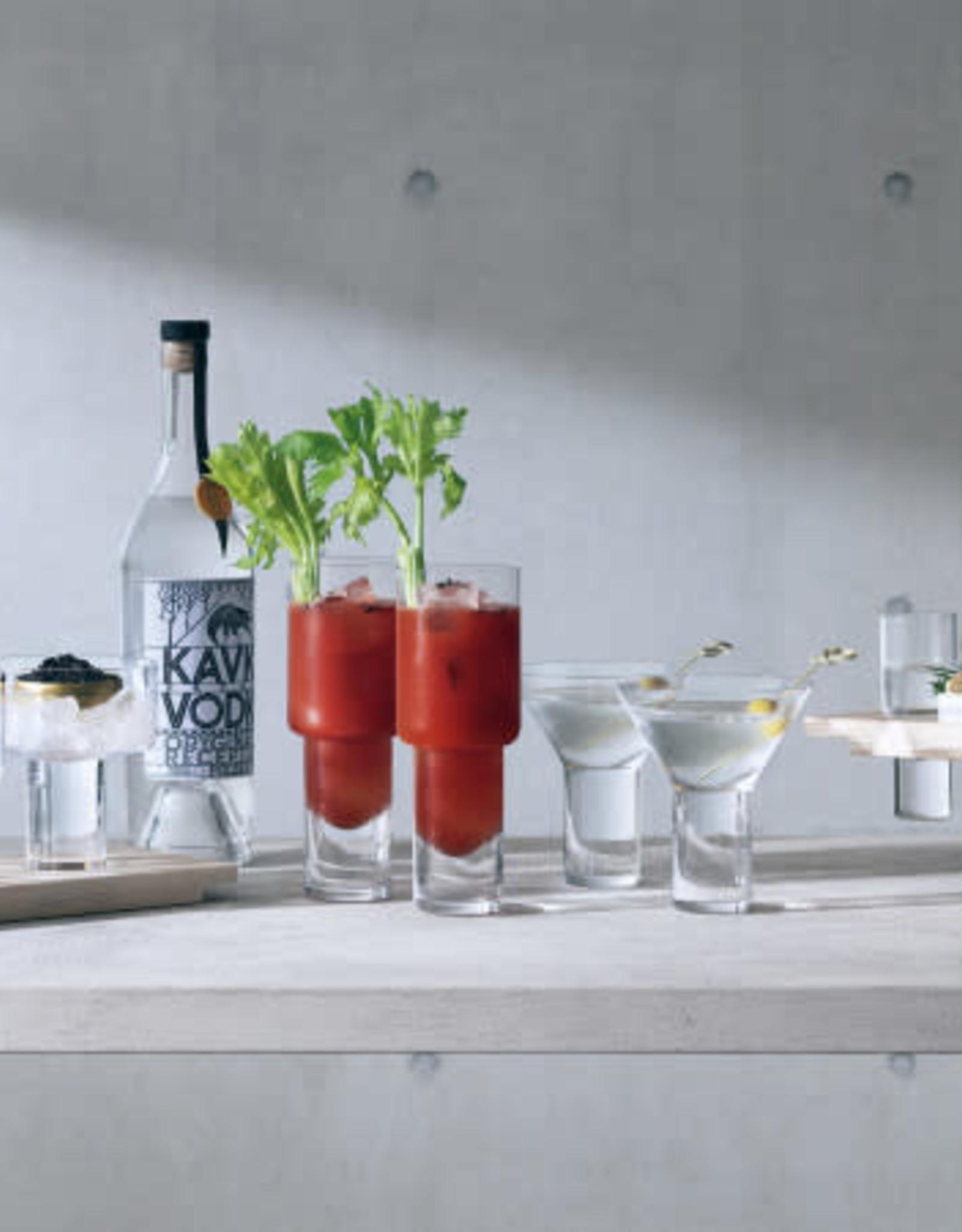 Vodka Cocktail Glass 8.1oz Clear x2