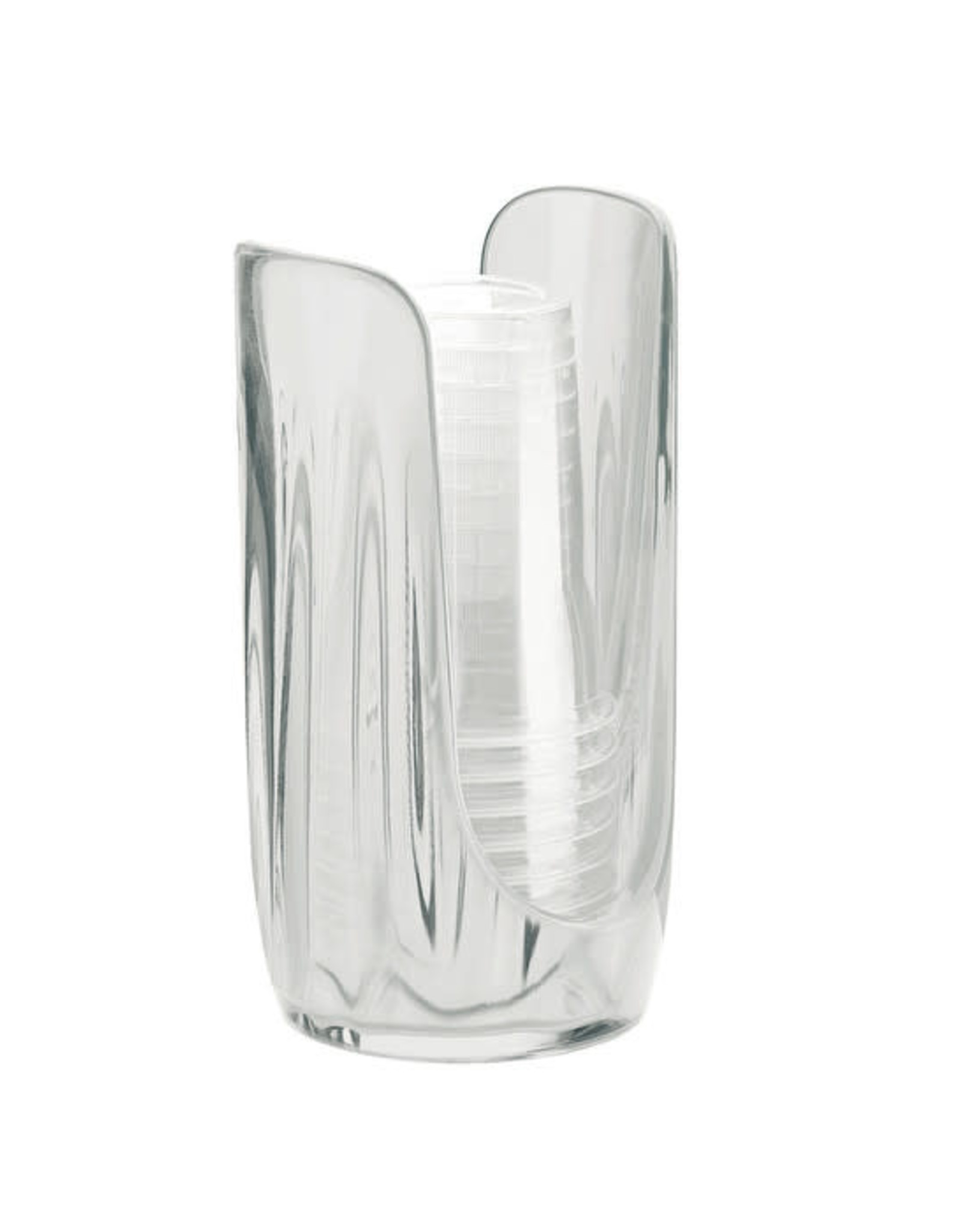 Guzzini Plastic Paper Cup Dispenser Clear