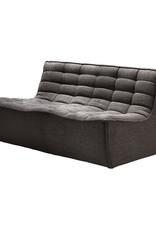 Ethnicraft USA LLC N701 Sofa - Two Seater, Dark Grey