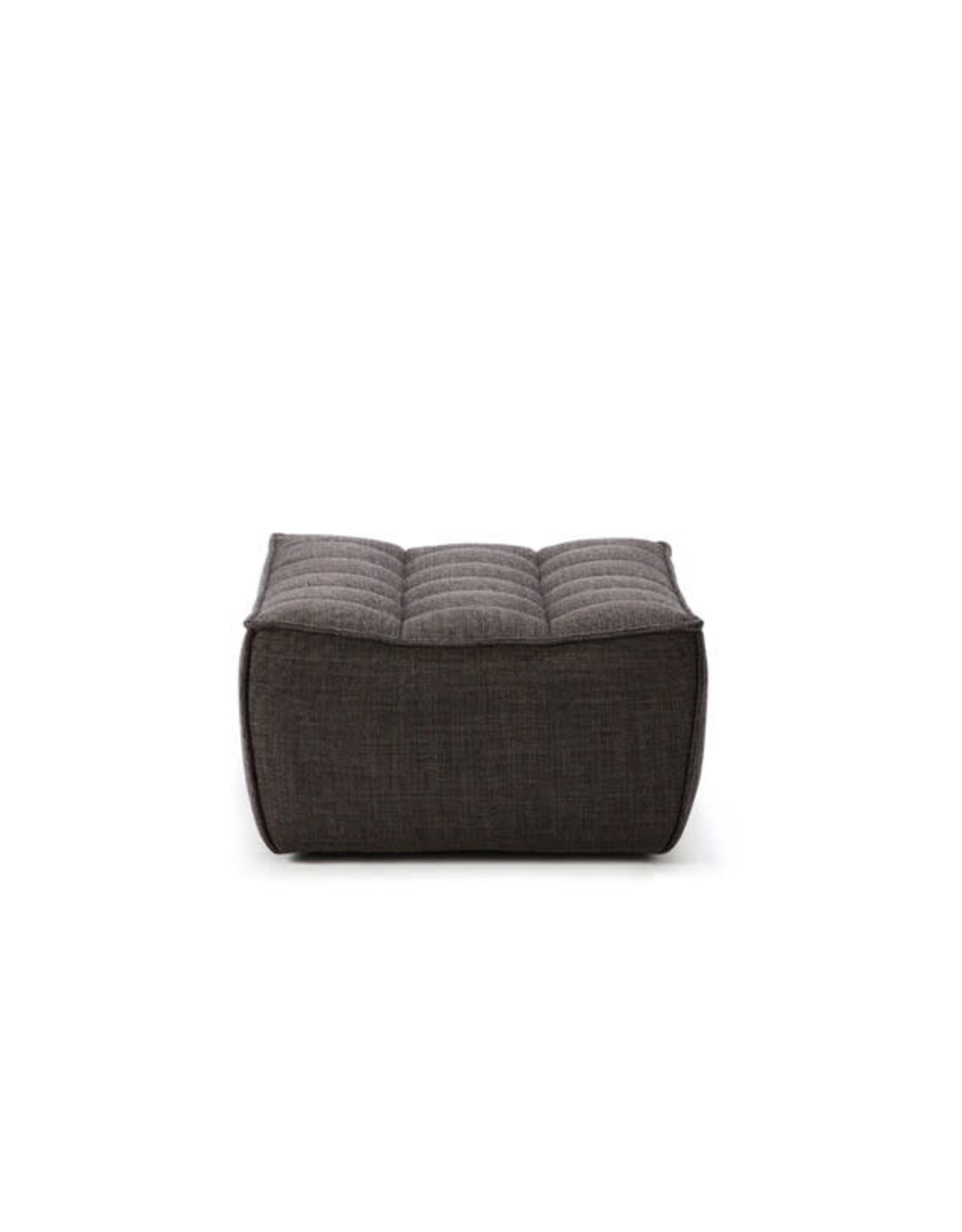 Ethnicraft N701 Footstool, Dark Grey