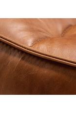 Ethnicraft N701 Footstool - Old Saddle