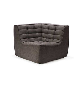 Ethnicraft USA LLC N701 Sofa Corner - Dark Grey