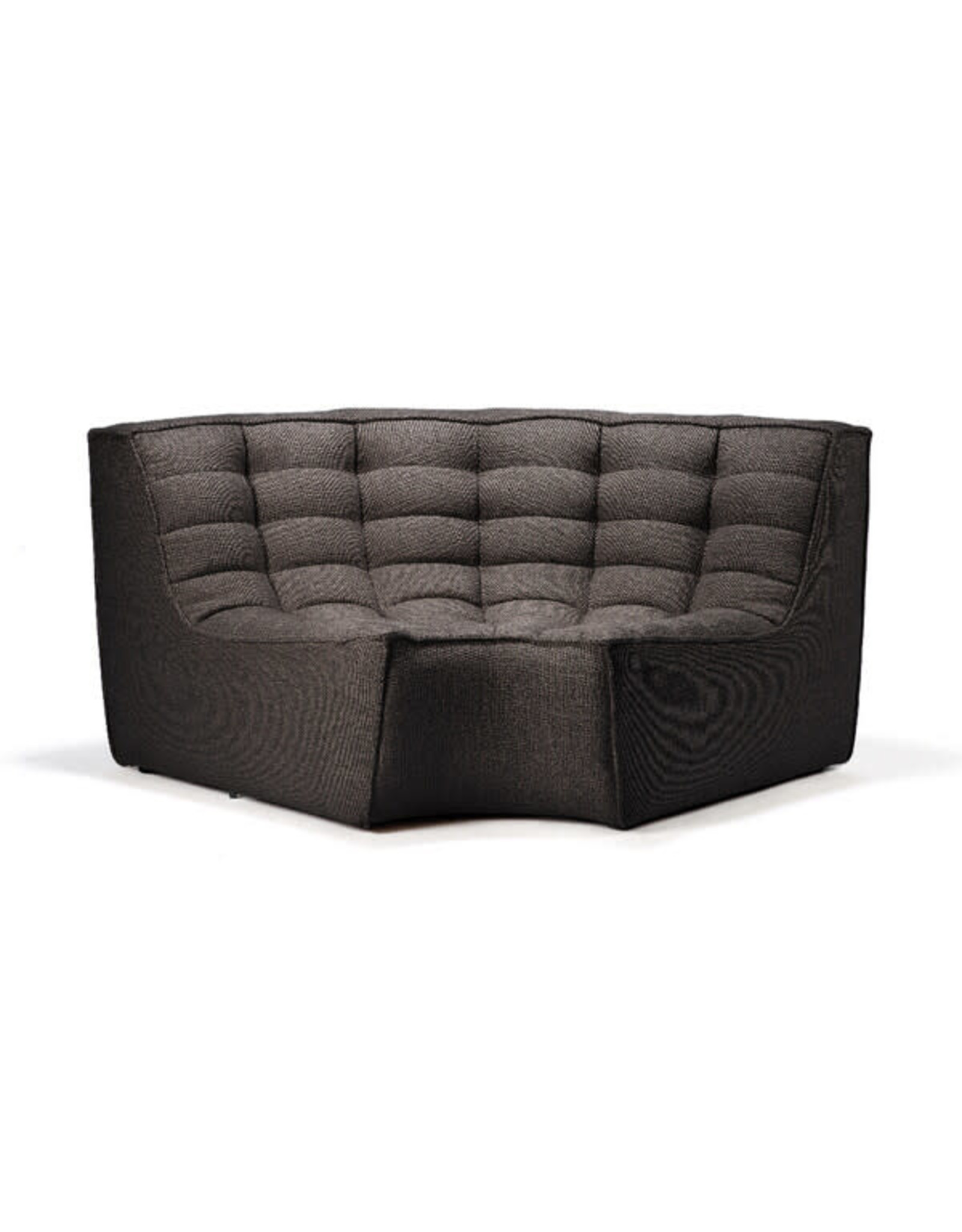 Ethnicraft N701 Sofa Round Corner Dark Grey