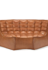 N701 Sofa Round Corner - Old Saddle