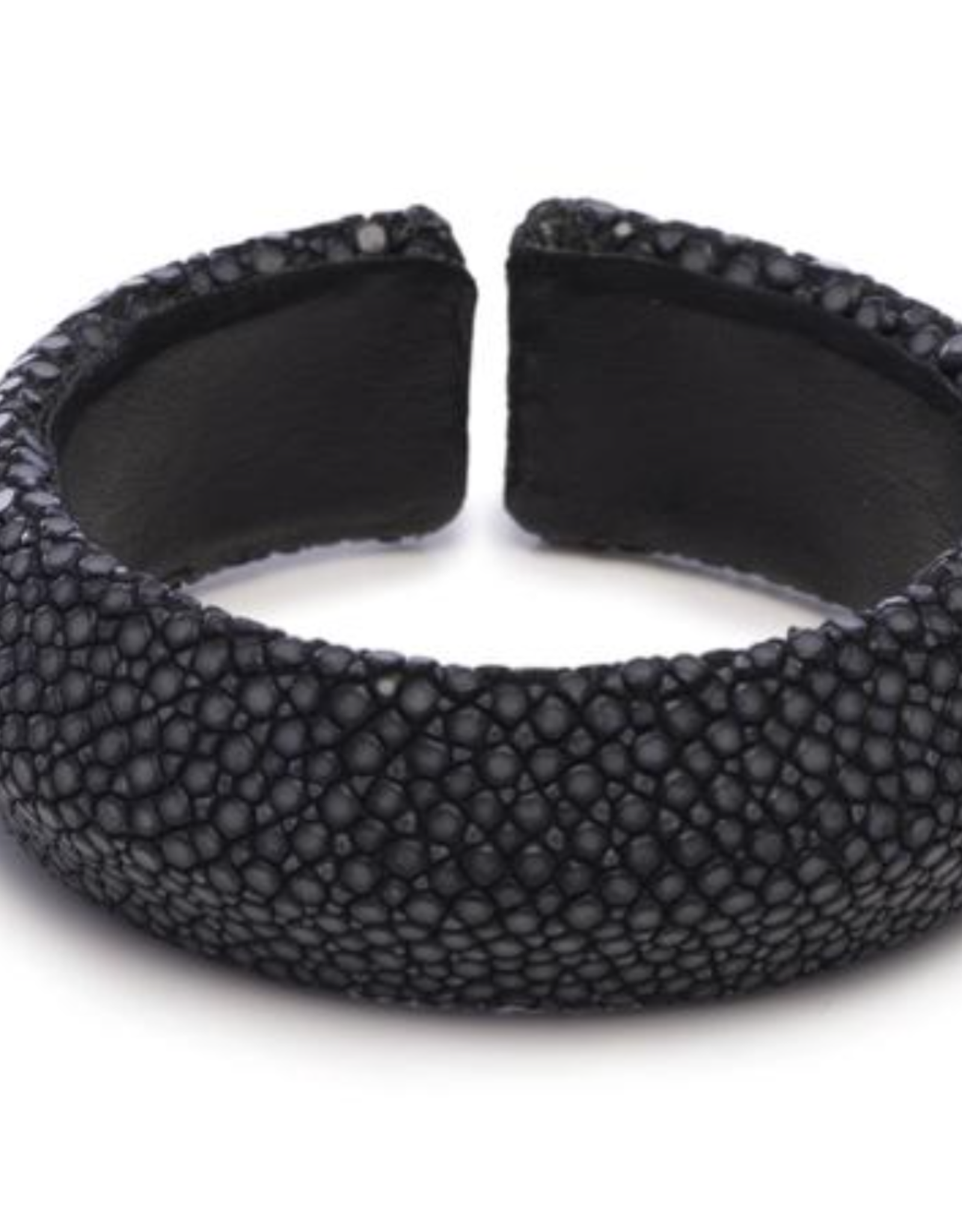 Vivo Black Shagreen Solid Cuff