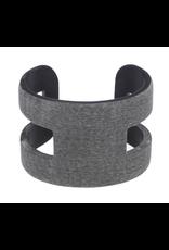 Matt Dark Gray Buffalo Horn Cut out cuff